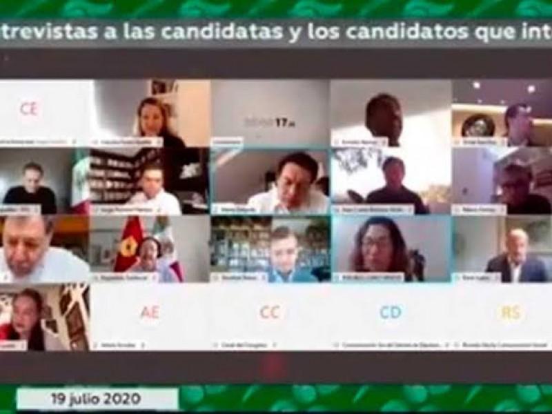 Entrevista Jucopo aspirantes a consejeros del INE