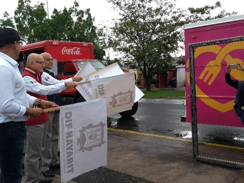 Envía DIF estatal víveres a Tecuala