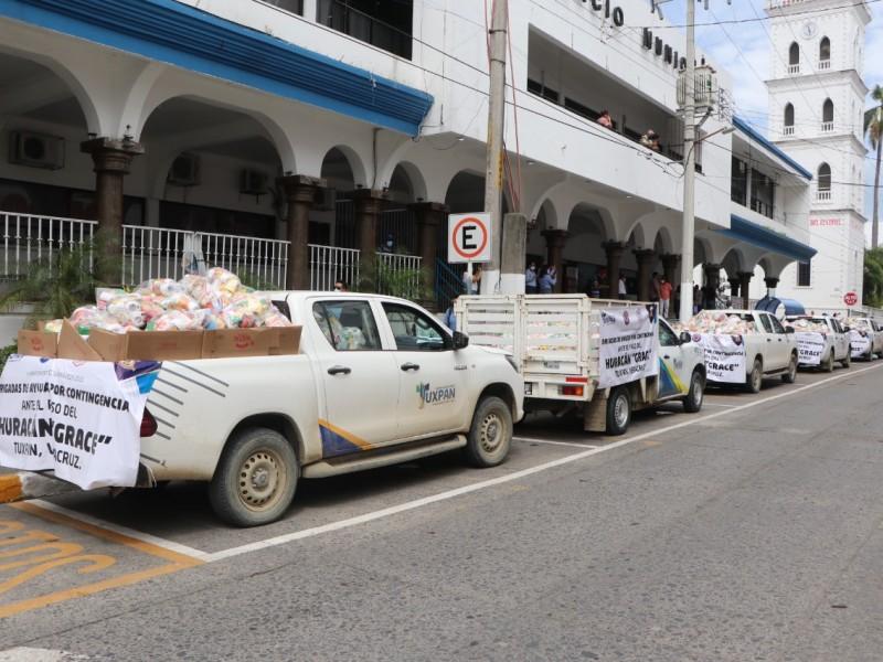 Envían ayuda alimentaria a 60 comunidades de Tuxpan
