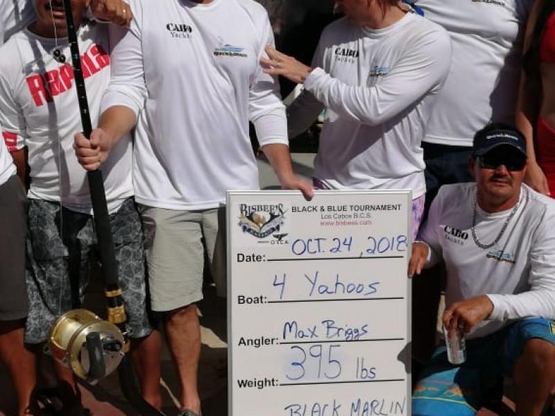 Equipo pesca un Marlín de 395 libras
