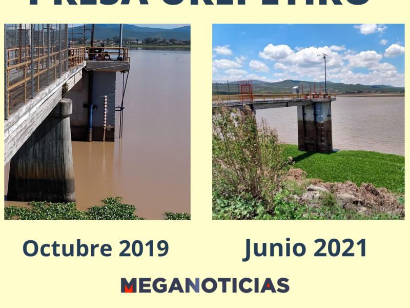 Escasez de agua en presa Urepetiro en Tlazazalca afectará agricultura