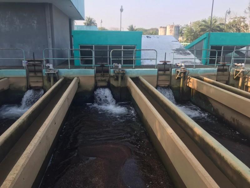 Realizan paros en planta potabilizadora por escasez de agua