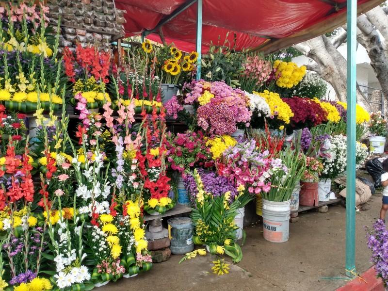 Escasez de flores por lluvias reportan comerciantes
