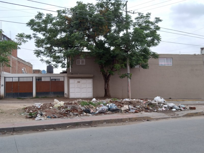 Escombros perjudican la salud de vecinos y locatarios