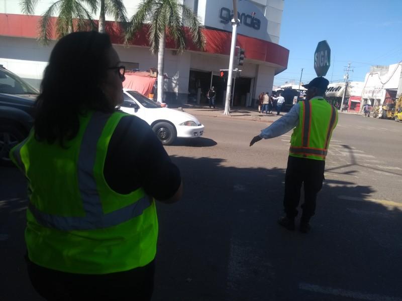 Escuadrón Vial toma acción en calles de Cajeme