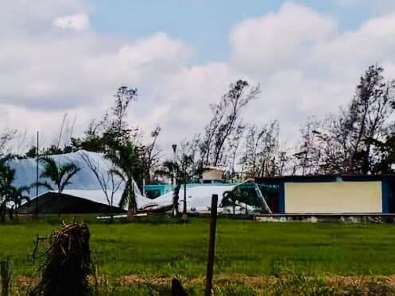 Escuelas de Tuxpan en espera de un dictamen de daños