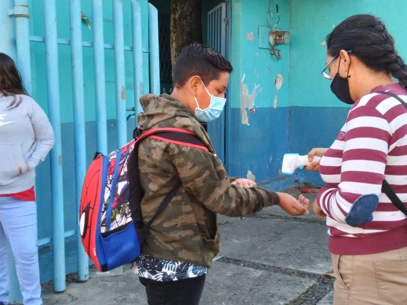 Escuelas públicas regresan a clases presenciales en Zamora