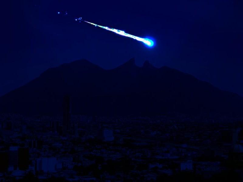 Espectacular meteorito alumbra el cielo de Monterrey