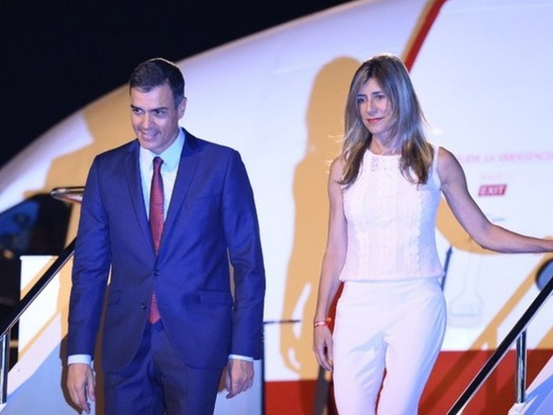 Esposa de Presidente español da positivo a covid-19
