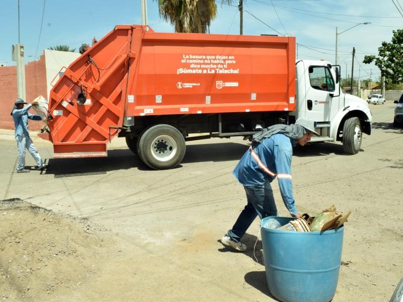 Esta semana se retrasará la recolección de basura doméstica