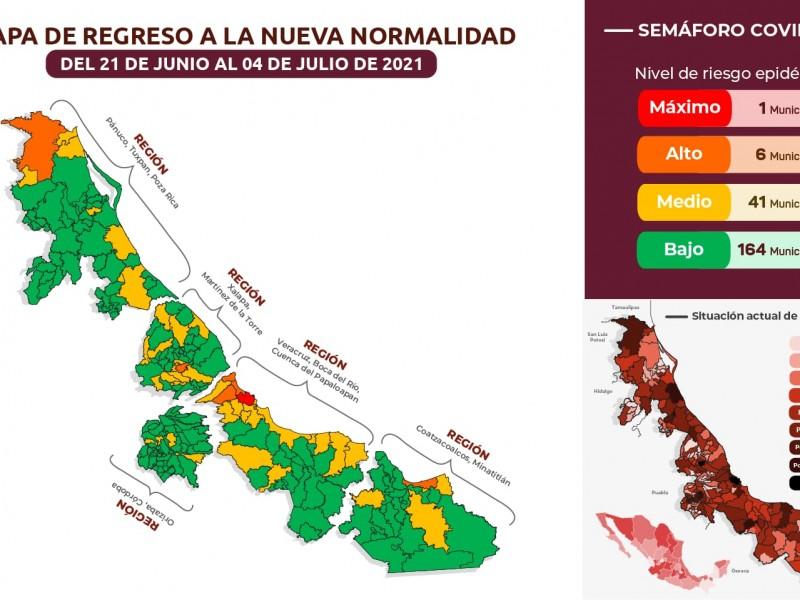 Estado de Veracruz se mantiene en Amarillo