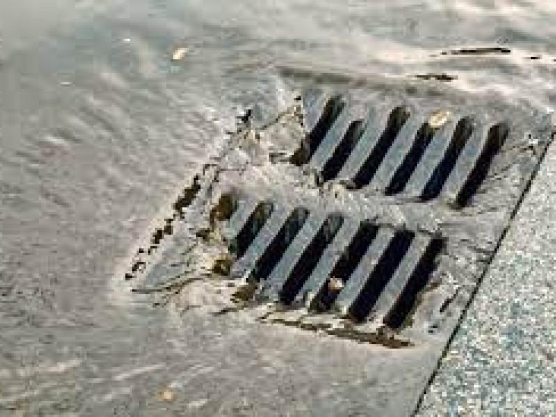 Estado del drenaje pluvial en San Luis Río Colorado