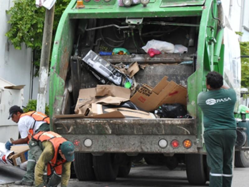 Éste 01 de enero no recolectarán la basura
