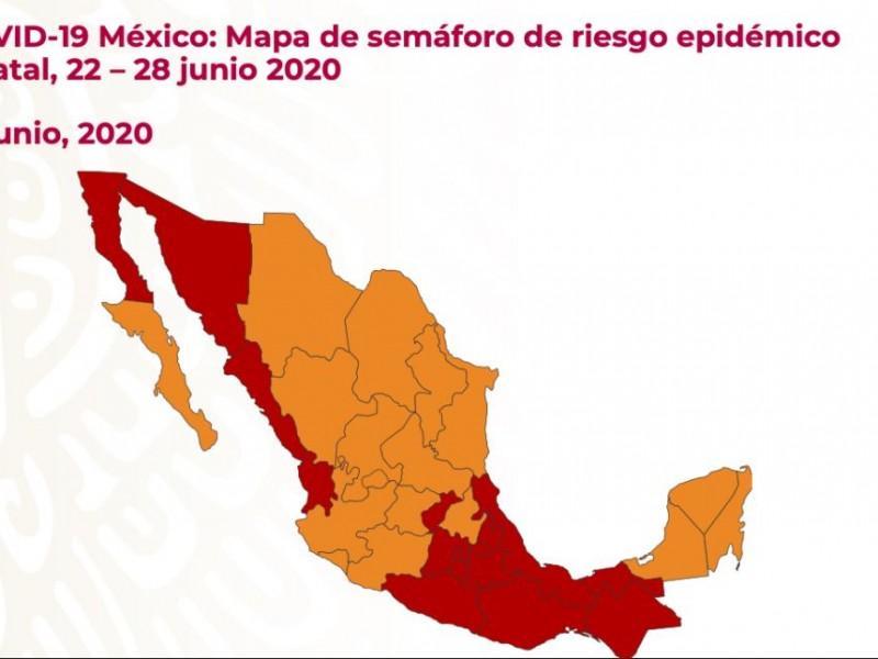 Este es el semáforo de riesgo para México, 22-28 junio