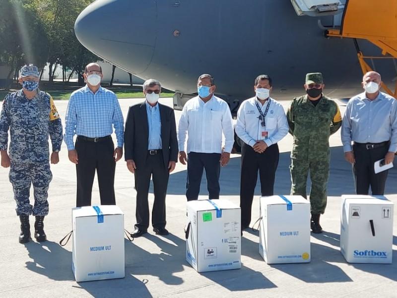 Este miércoles arribaron a Sinaloa 16 mil 575 vacunas Pfizer