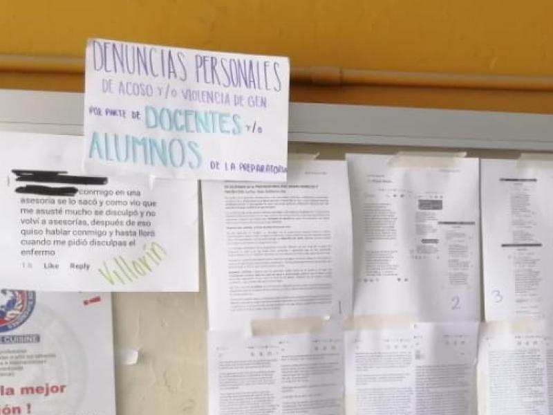 Estudiantes de la preparatoria Morelos denuncian casos de violencia sexual