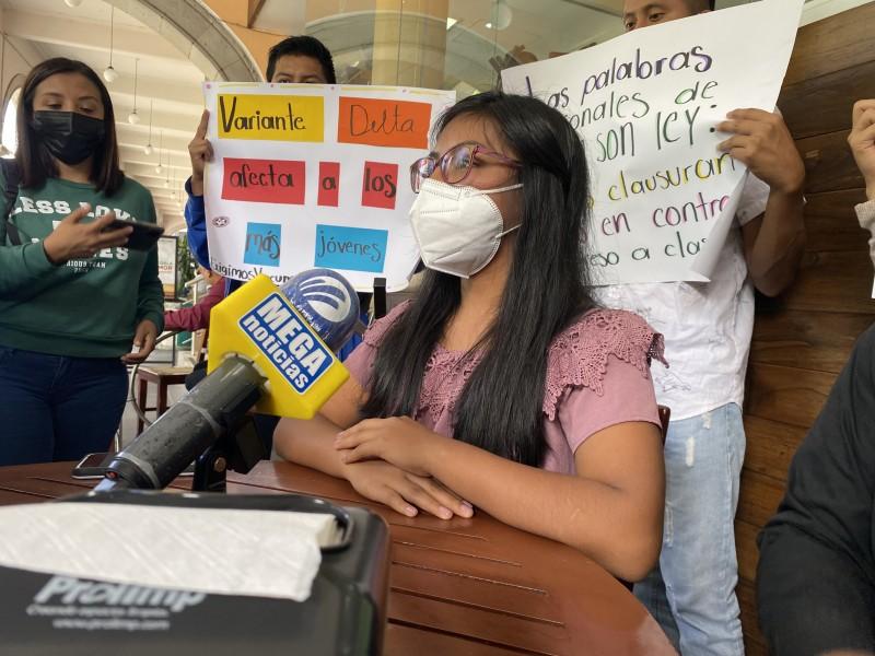 Estudiantes veracruzanos se oponen al regreso a clases; tomarán escuelas
