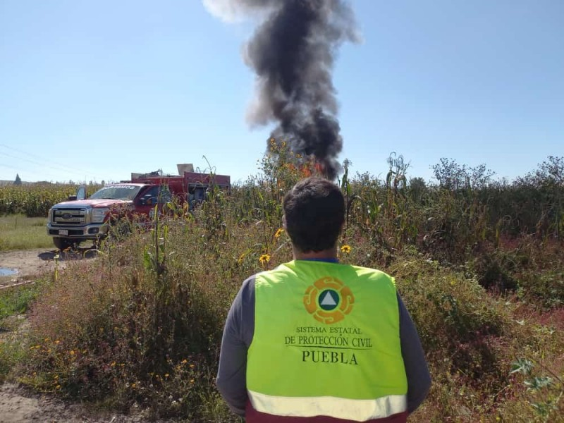 Evacuan a 12 familias por quema controlada de Gas LP