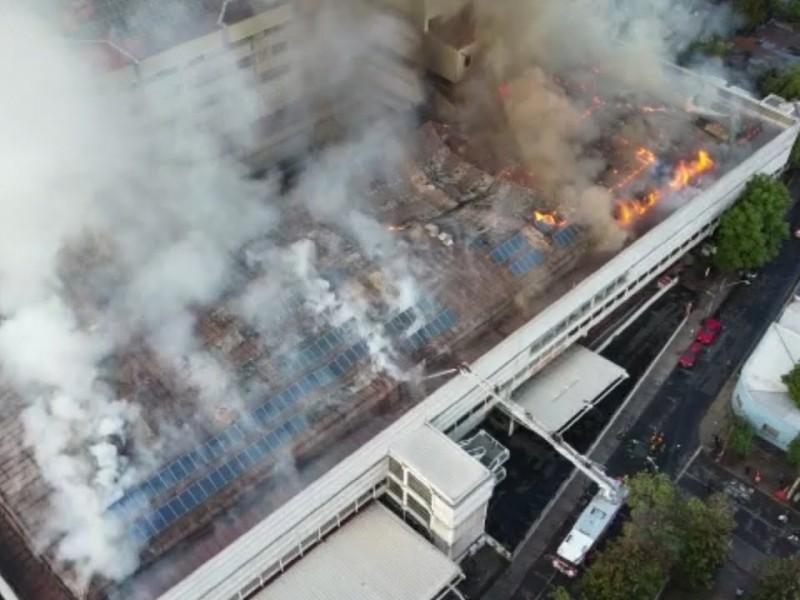 Evacuan a pacientes con Covid 19 tras incendio en hospital