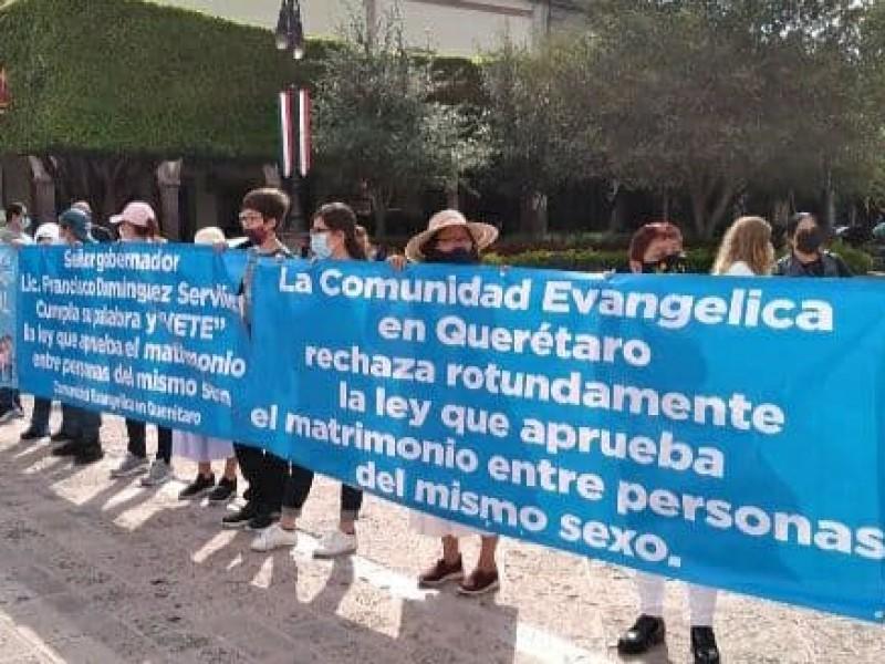 Evangelistas en contra de los Matrimonios Igualitarios