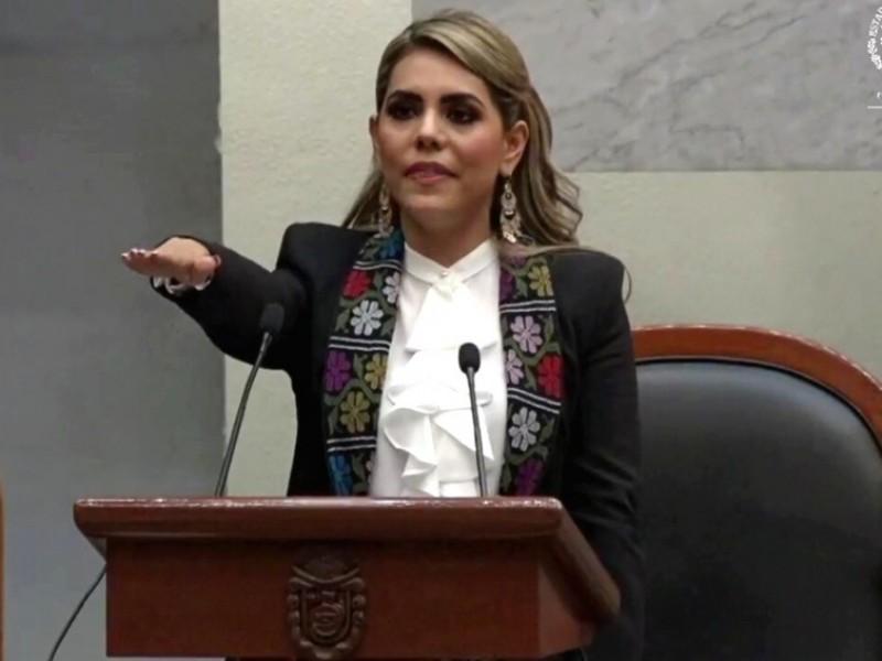 Evelyn Salgado rinde protesta como Gobernadora de Guerrero