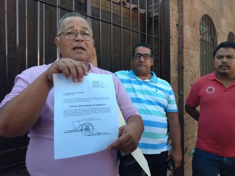 Ex bomberos de Lerdo refutan acusaciones de robo