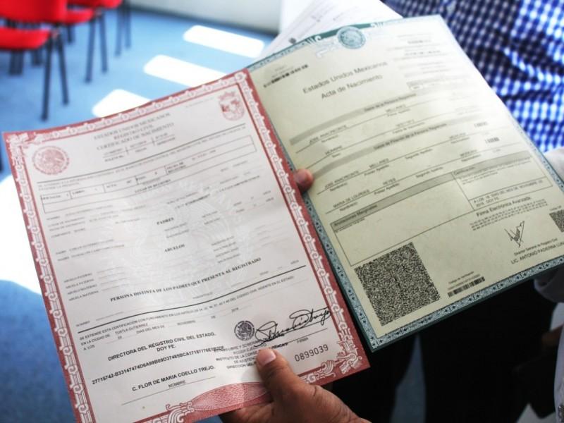 Exhorta SH a tramitar acta de nacimiento en portal autorizado