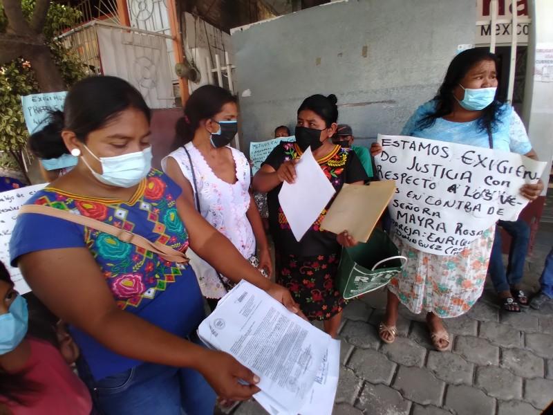 Exigen intervención de autoridades ante conflicto vecinal en Tehuantepec
