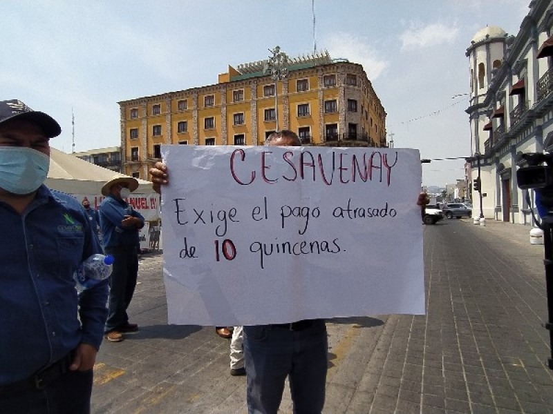 Exigen pago de salario trabajadores de CESAVENAY