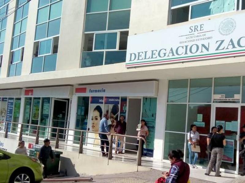 Expiden en Zacatecas hasta 400 pasaportes diarios