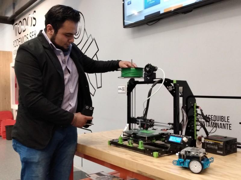 Explora acerca la robótica a sus visitantes