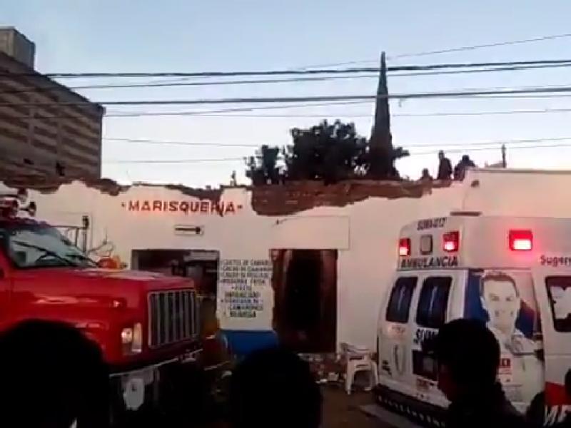 Explosión en marisquería en Cuautlancingo, dejó 3 lesionados