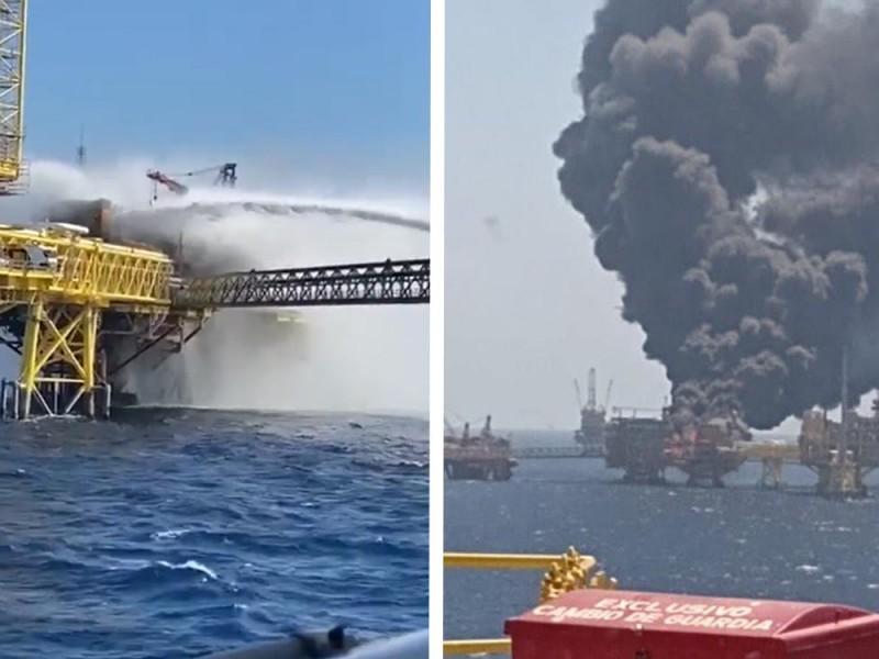 Explosión en plataforma petrolera deja 5 muertos