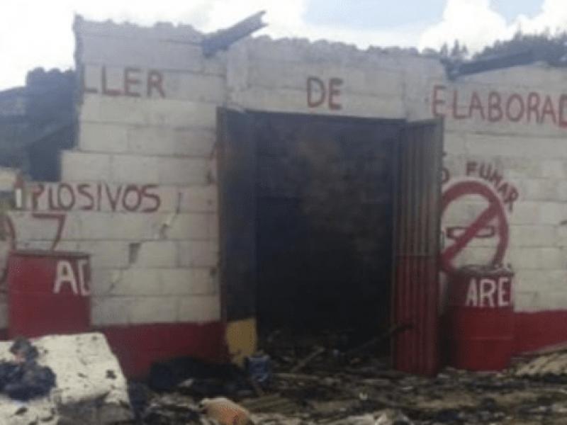 Explosión en polvorín deja al menos tres muertos