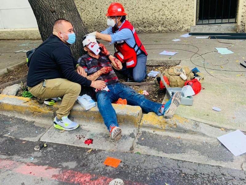 Explosión por acumulación de gas deja 22 lesionados en CDMX
