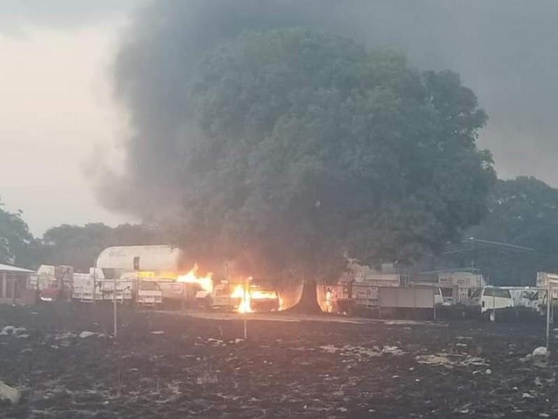 Explota gasera ubicada en el municipio de Acajete