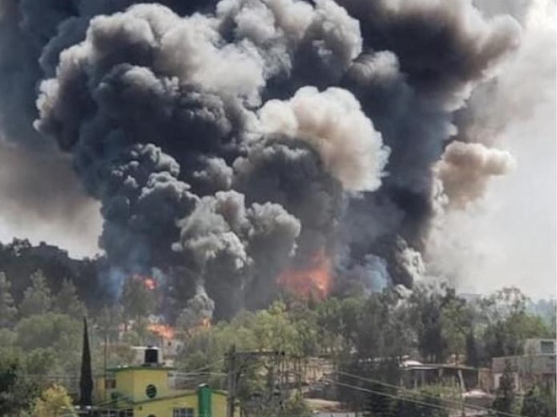 Explota polvorín en Chimalhuacán