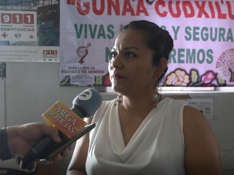 Factor económico limita a mujeres denunciar la violencia: Tehuantepec