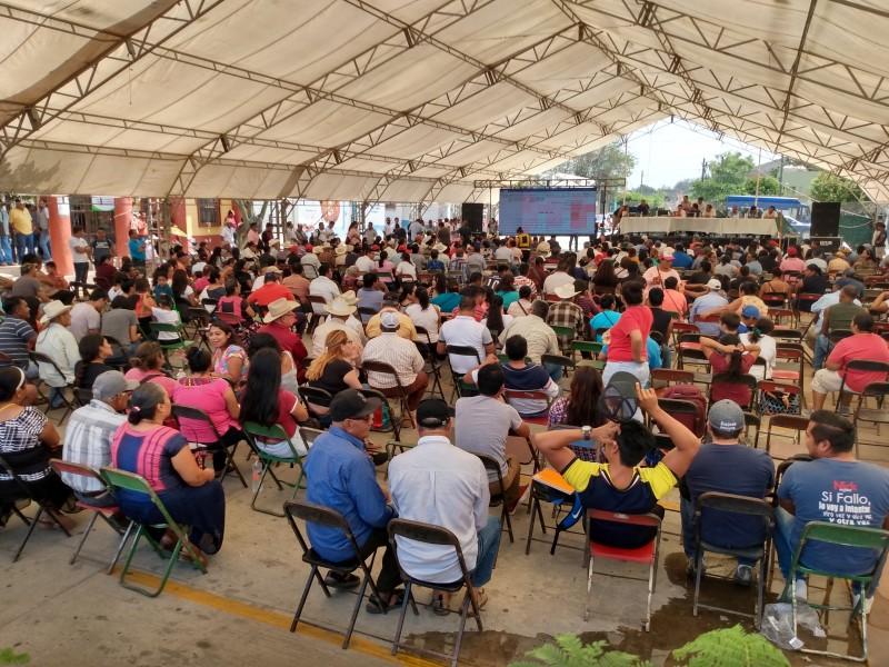 Fase informativa de la Consulta Indígena en Unión Hidalgo