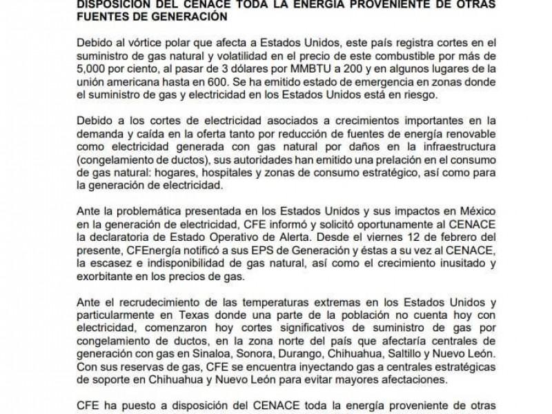 Fallas en la energía electica e internet en Ciudad Obregón