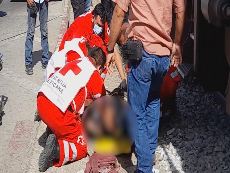 Fallece adolescente que fue golpeado por ferrocarril el pasado miércoles