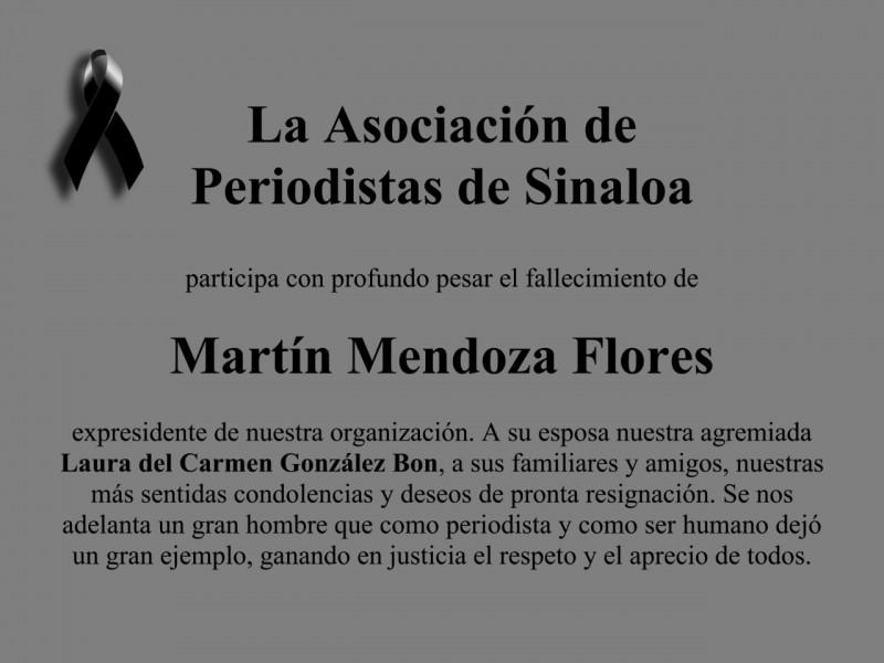 Fallece el periodista Martín Mendoza a causa del Covid-19
