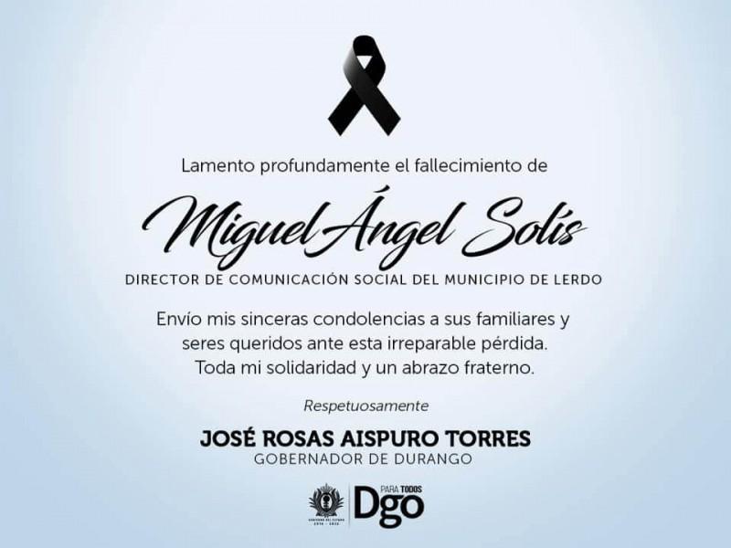 Fallece Miguel Solís, Director de Comunicación Social de Lerdo