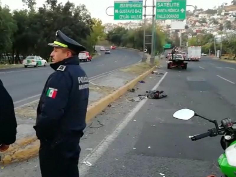 Fallece motociclista en Tlalnepantla