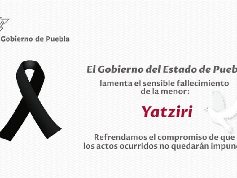 Fallece Yatziri, menor golpeada por sus padres