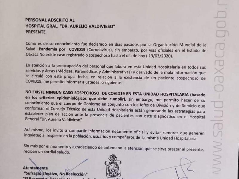 Falso el caso de Coronavirus en Oaxaca: SSO