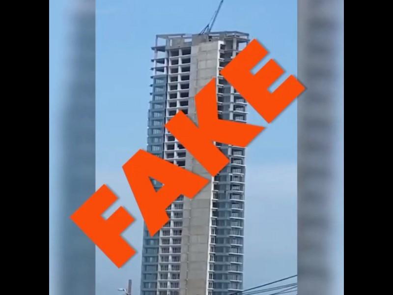 Falso el video de un edificio balanceandose durante sismo