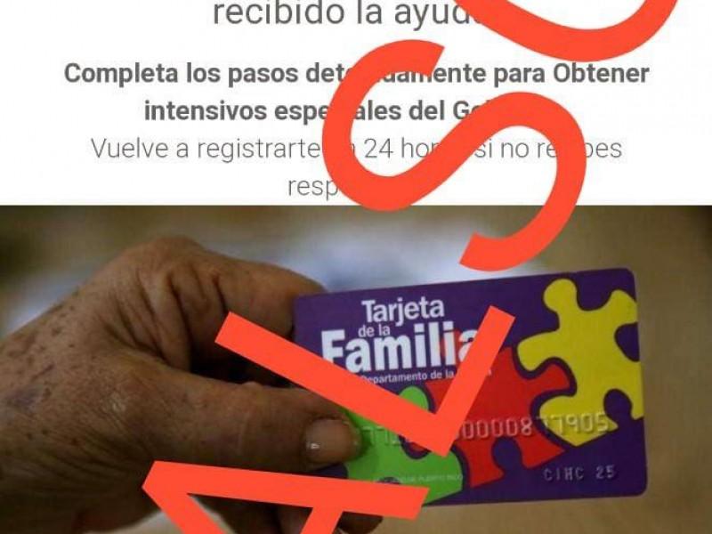 Falso que Gobierno de Puebla otorgue tarjeta de la familia