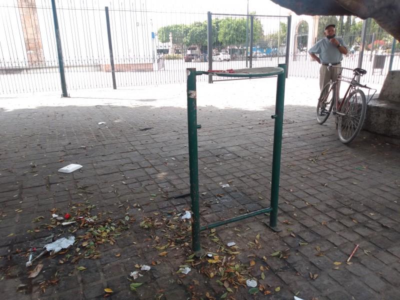 Falta conciencia ciudadana en la Plaza de San Juan