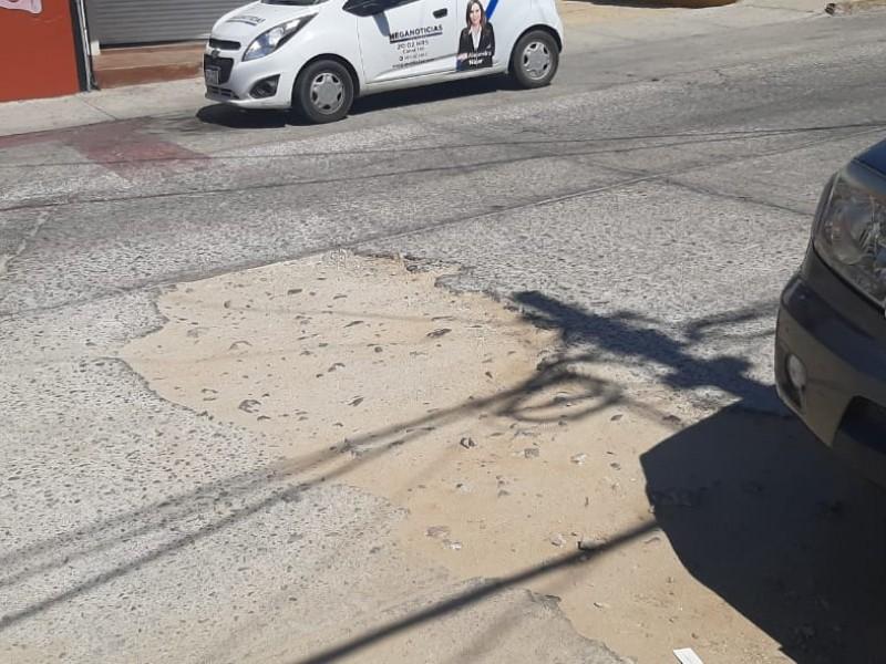 Falta de mantenimiento en calles del centro de San José del Cabo